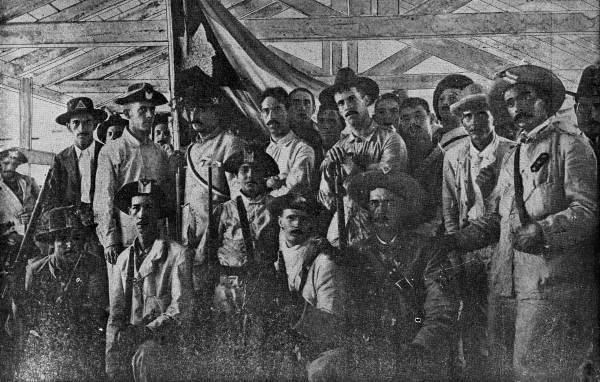 Cuban volunteers in the barracks.