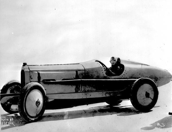 Ralph DePalma and his Packard V-12 - Daytona Beach, Florida.