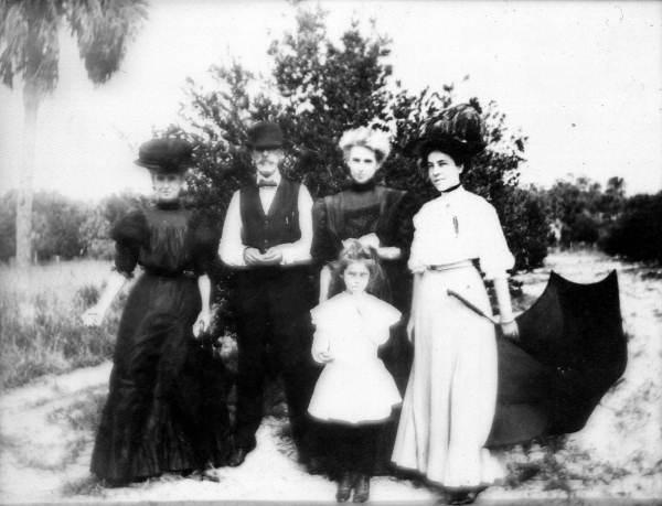 Weedon family on Weedon Island.