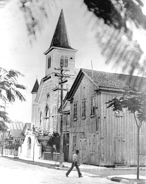Cornish Memorial AME Zion church and chapel - Key West, Florida.