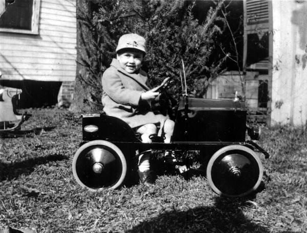 Jeptha Turner Harrison Jr. in a toy car - Jacksonville, Florida.