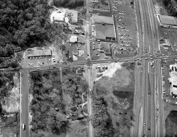 Aerial view of intersections of Magnolia, Lafayette and Apalachee.