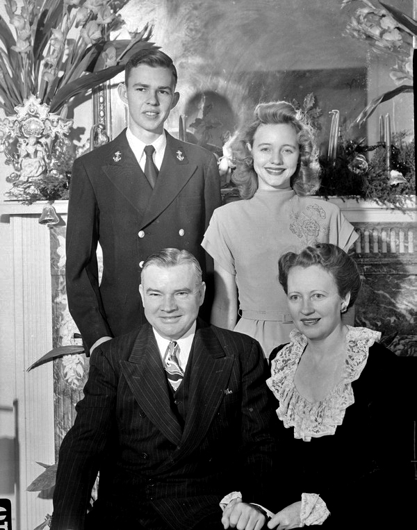 Justice Alto Adams, his wife Carra, and children Alto, Jr. and Elaine