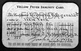 Yellow Fever Immunity Card