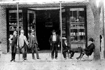 Group of men in front of Moseley's Drug Store: Madison, Florida