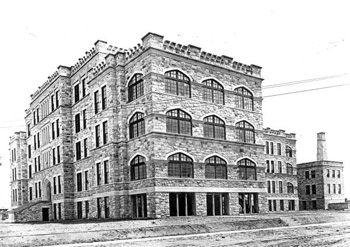 Sacred Heart hospital during construction: Pensacola, Florida (ca. 1914) 