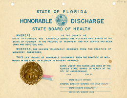 Discharge Certificate