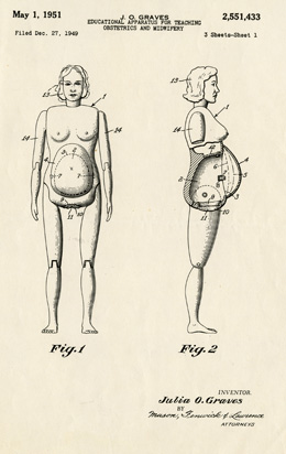 Design Drawings of Graves' Obstetrical Doll