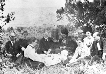 Clara Barton and Red Cross colleagues having a picnic: Tampa, Florida