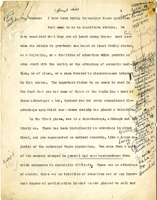 Mary McLeod Bethune Interview Page 1