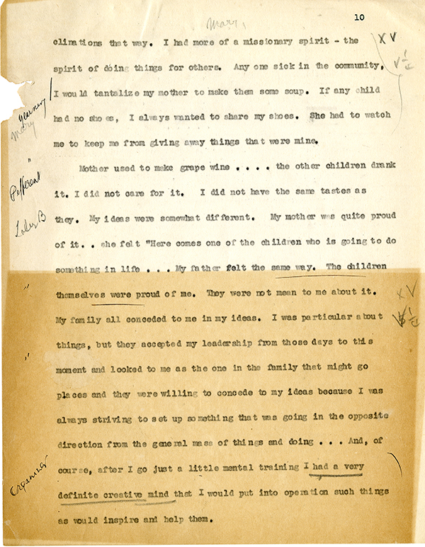 Mary McLeod Bethune Interview Page 10
