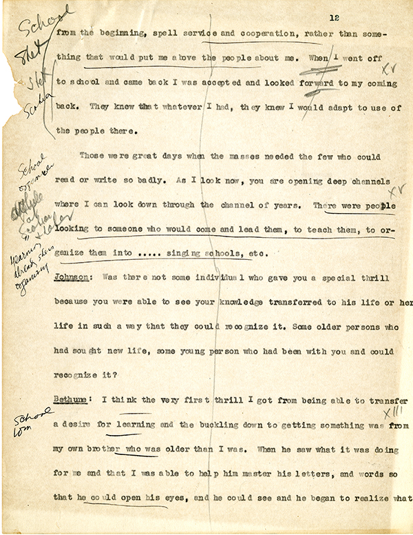Mary McLeod Bethune Interview Page 12