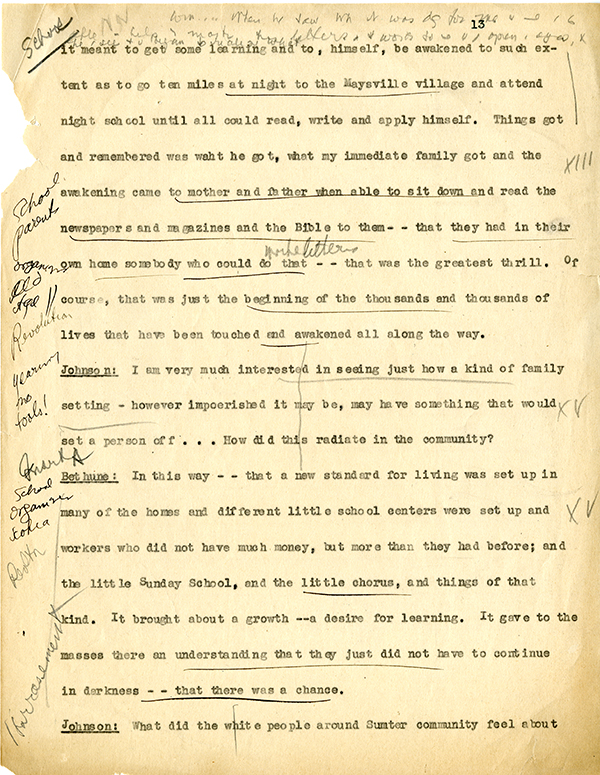 Mary McLeod Bethune Interview Page 13