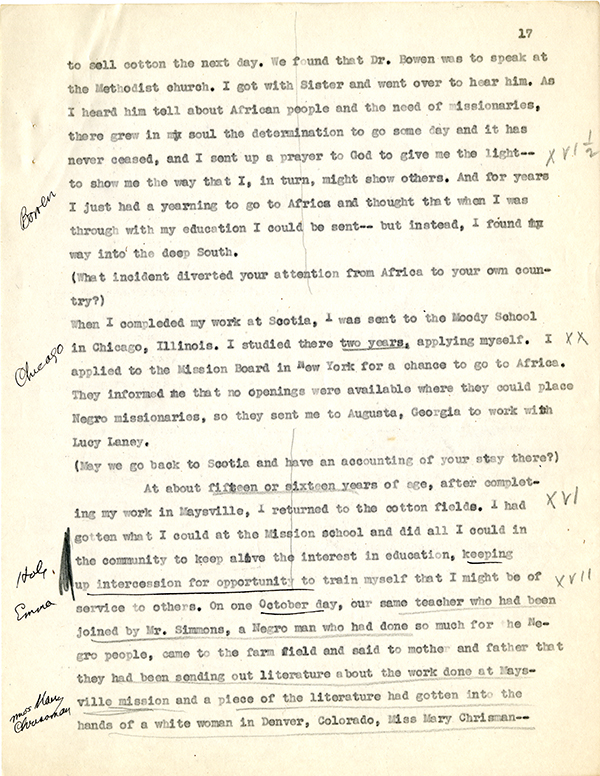 Mary McLeod Bethune Interview Page 17