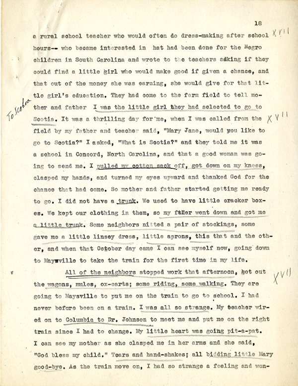 Mary McLeod Bethune Interview Page 18