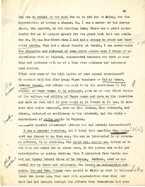 Mary McLeod Bethune Interview Page 20