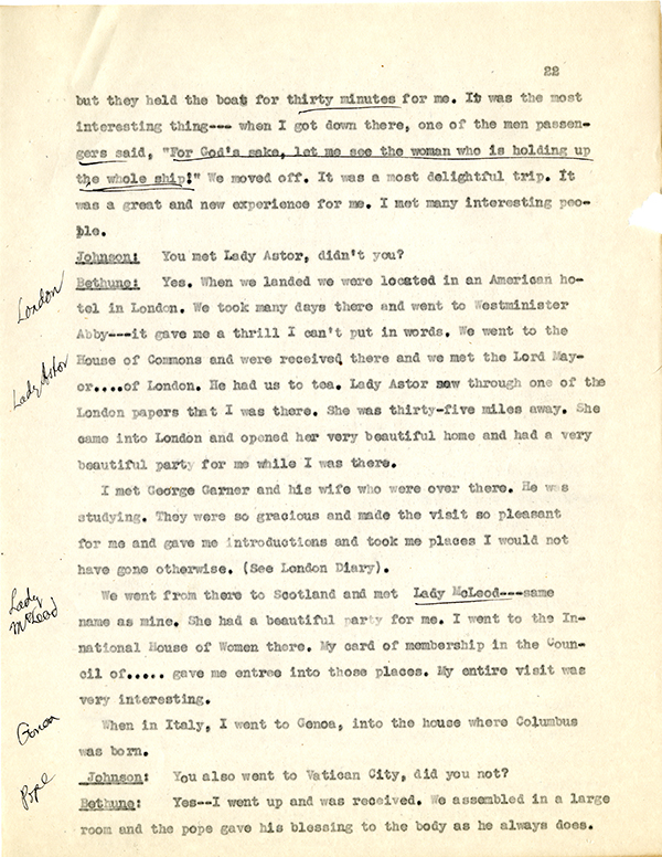Mary McLeod Bethune Interview Page 22