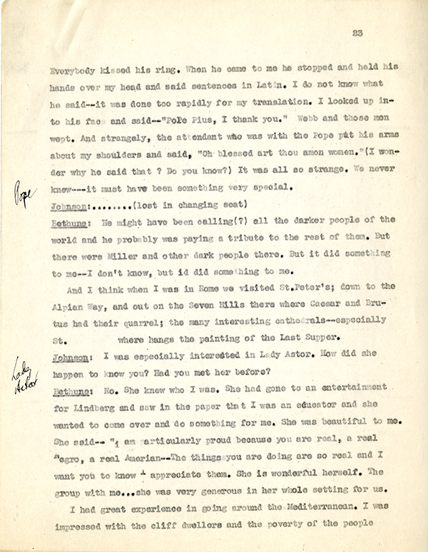 Mary McLeod Bethune Interview Page 23