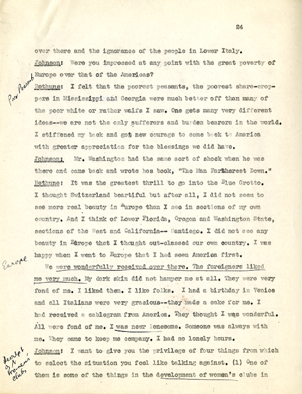 Mary McLeod Bethune Interview Page 24