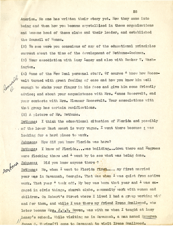 Mary McLeod Bethune Interview Page 25