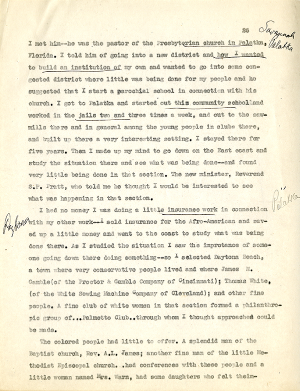 Mary McLeod Bethune Interview Page 26
