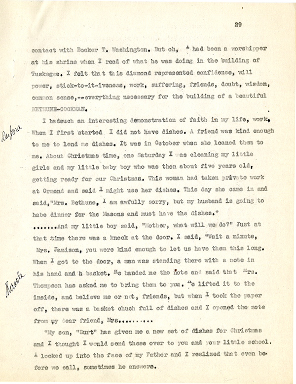 Mary McLeod Bethune Interview Page 29