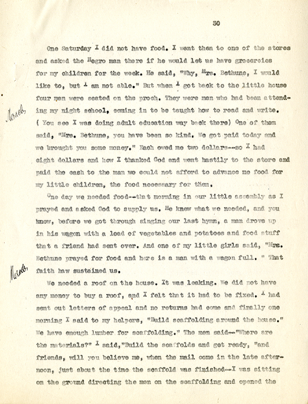 Mary McLeod Bethune Interview Page 30