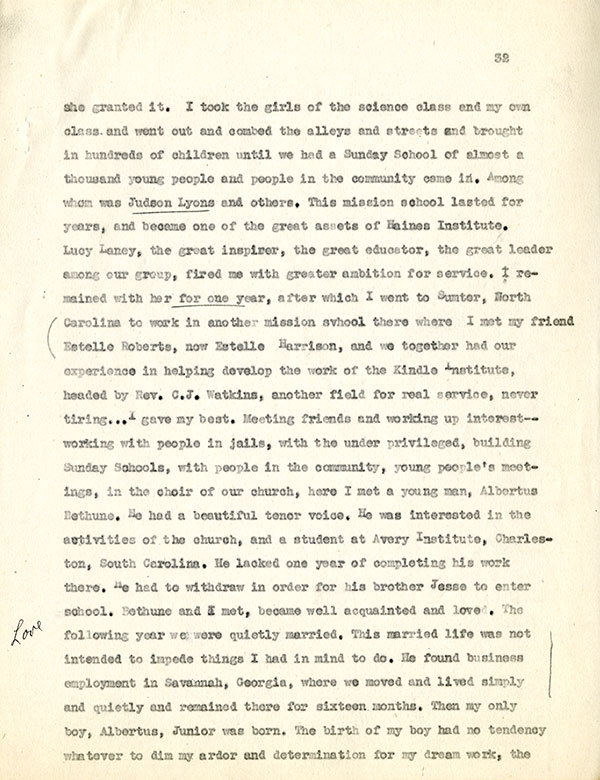 Mary McLeod Bethune Interview Page 32