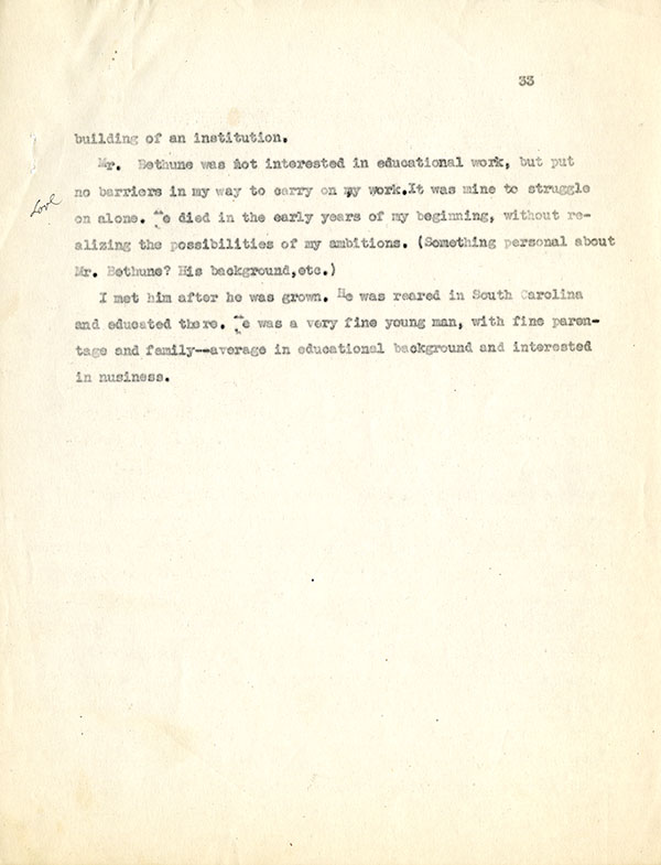 Mary McLeod Bethune Interview Page 33