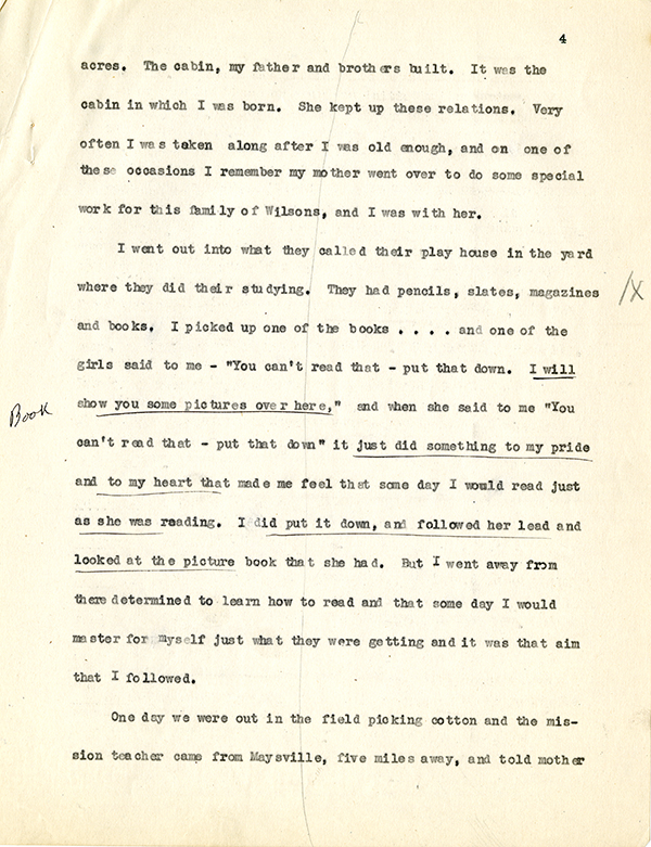 Mary McLeod Bethune Interview Page 4