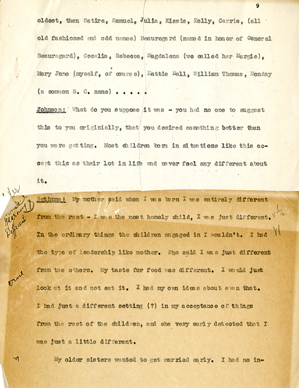 Mary McLeod Bethune Interview Page 9