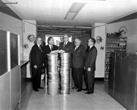 Department of Commerce presenting films to Florida Photographic Archives, 1964
