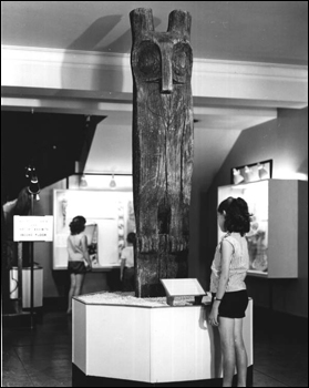 Timucuan horned owl totem pole : De Land Region, Florida (1955)