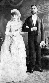 Jenny and Ygnacio Castaneda on their wedding day (1890)