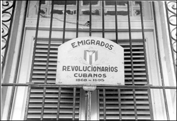 Sign at home of the Cuban Revolutionary Society: Key West, Florida (1938)
