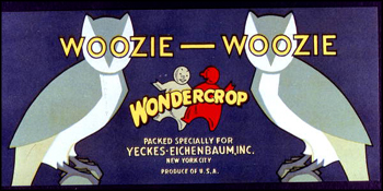 Yeckes-Eichenbaum, Incorporated's Woozie Woozie Wondercrop citrus label (1986)