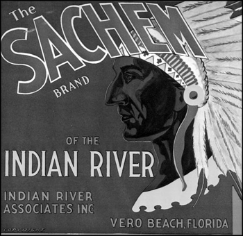 Sachem Brand of the Indian River citrus label: Vero Beach, Florida (early 1900s)