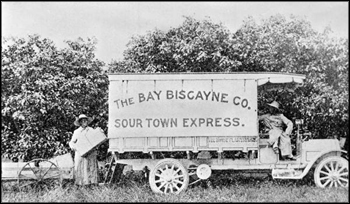 Shipping fruit from Miami on the Sour Town Express: Miami, Florida (ca. 1910s)