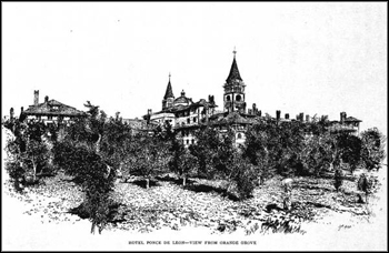 Hotel Ponce de Leon from orange grove: St. Augustine, Florida (1887)