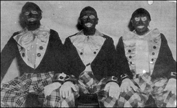 View showing some performers from the 2nd Annual Lions Club Suwannee Minstrel show in Lake Wales, Florida (1952)