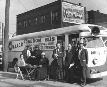 NAACP Freedom Bus and riders (195-)