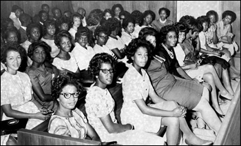 Negro students filling circuit court room: Tallahassee, Florida (May 31, 1963)