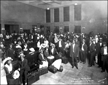 Segregated waiting room at railroad depot: Jacksonville, Florida (1921)