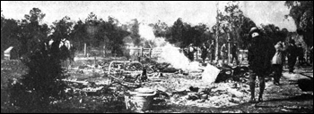 Ruins of a burned African-American home: Rosewood (January 4, 1923)