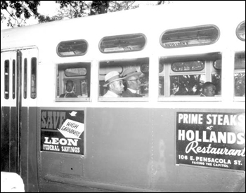 Gentlemen protesting segregated bus seating: Tallahassee, Florida (December 24, 1956)