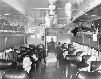 Interior of railroad car (1948)