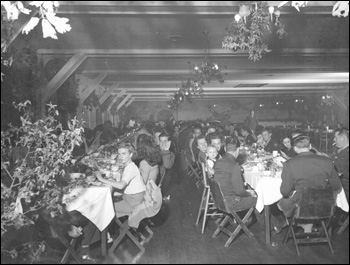 Interior of officers' club (1945)