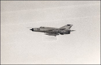 Cuban MIG over Florida Straits (ca. 1970)