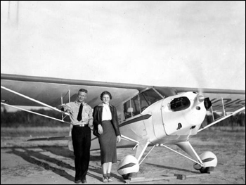 Student pilot Betty Wynn with instructor Ivan Munroe: Tallahassee, Florida (1938)