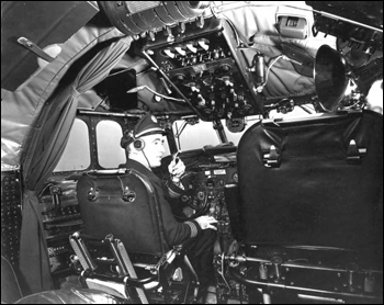 Airline cockpit (ca. 1950)